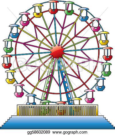 Download Ferris Wheel Clipart For Free Designlooter 2020 Clip Art Illustration Carnival Art
