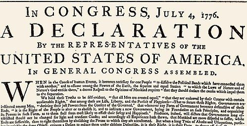 United States Declaration of Independence - Wikipedia Early US
