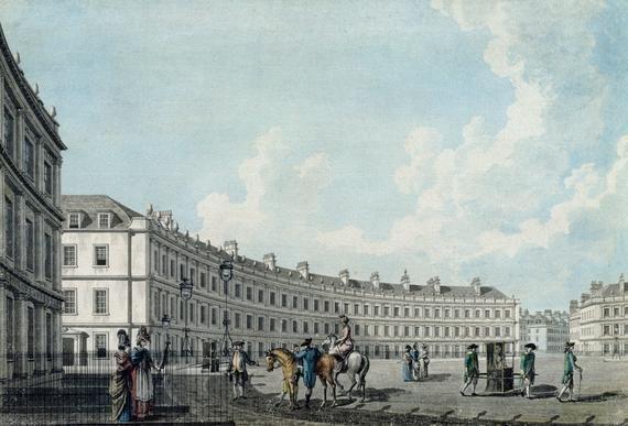 The Circus Bath 1784 Thomas Malton Jnr Buy Original Art Street Scenes History Of England