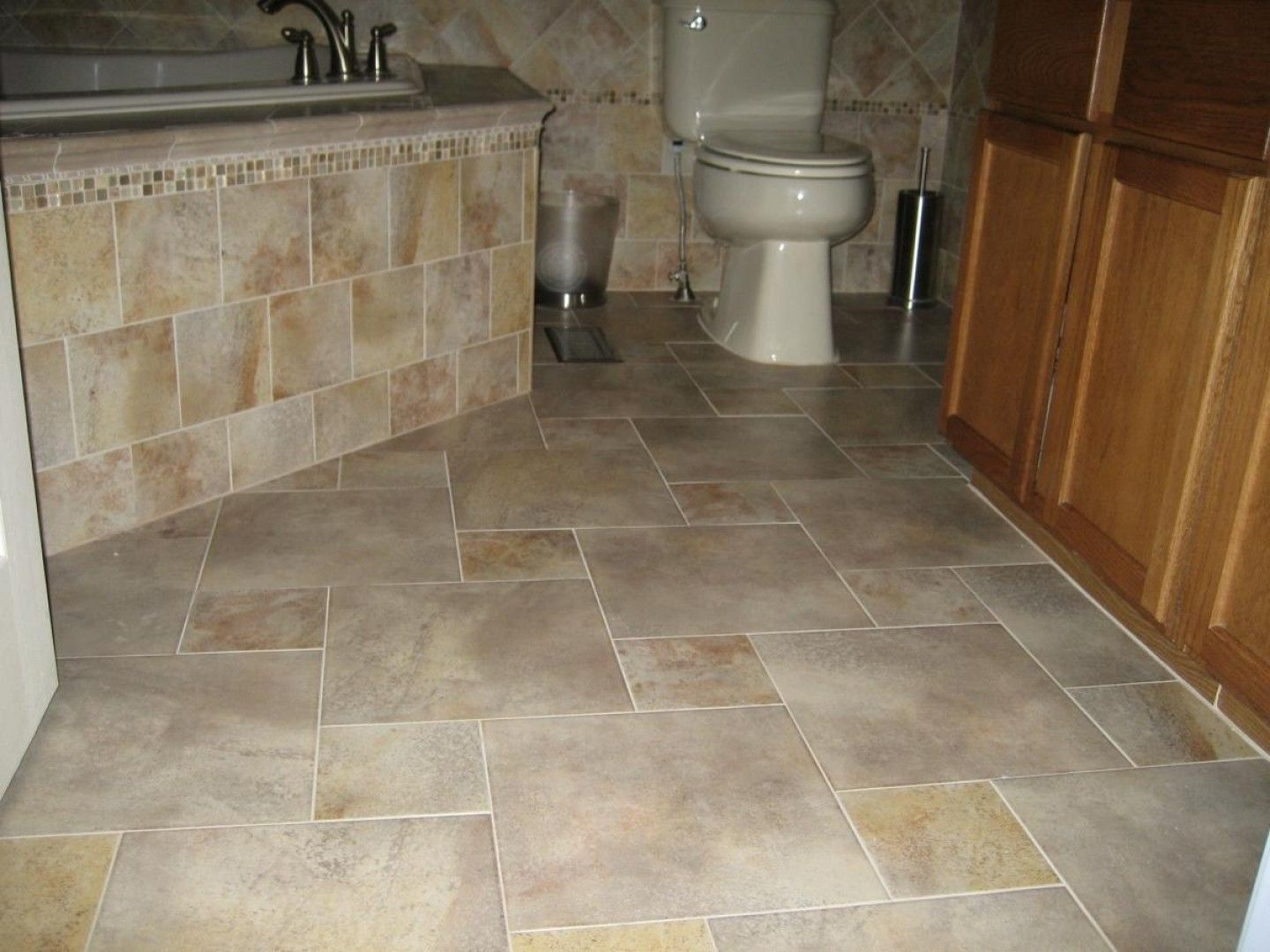 Bathroom floor tile layout patterns bathroom pinterest Tiles arrangement for bathroom