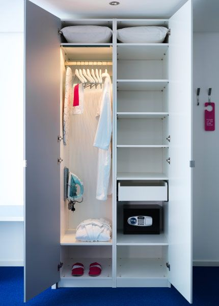 komplement clothes rail drawer and led lighting strip inside pax wardrobe about business. Black Bedroom Furniture Sets. Home Design Ideas