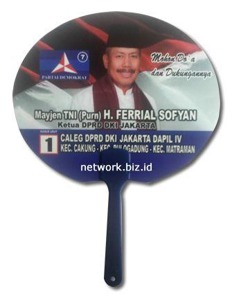 Kipas Kampanye Caleg Demokrat Mayjen Ferrial Sofyan Kipas Promosi