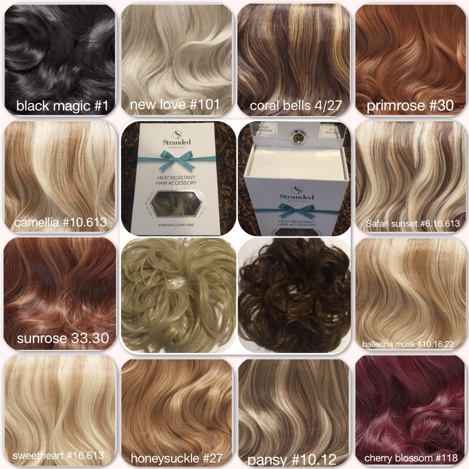 Stranded Luxury Large Hair Scrunchie Wavy Or Curly Heat Resistant Hair  Bobble b4396daf056