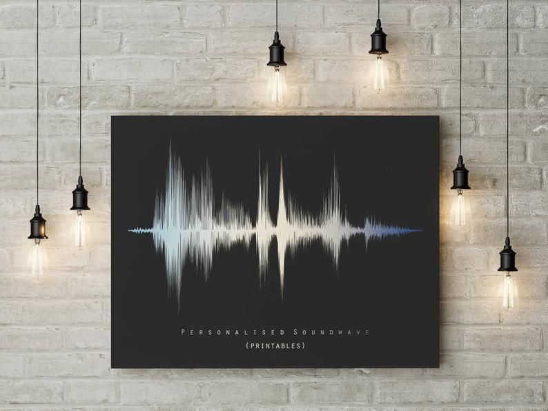 Personalised Mother/'s Day Gift Sound Wave Print Gift For Mum Mom Soundwave Song