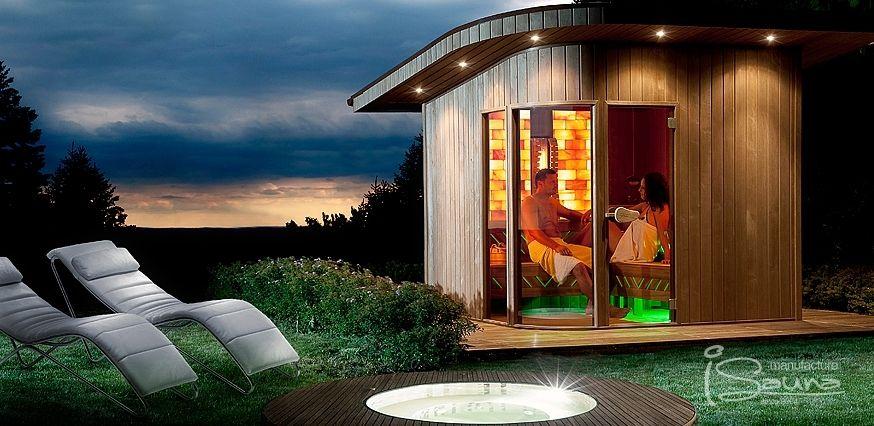 Garden Sauna With Himalayan Salt Therapy Outdoor Sauna Home Spa Sauna