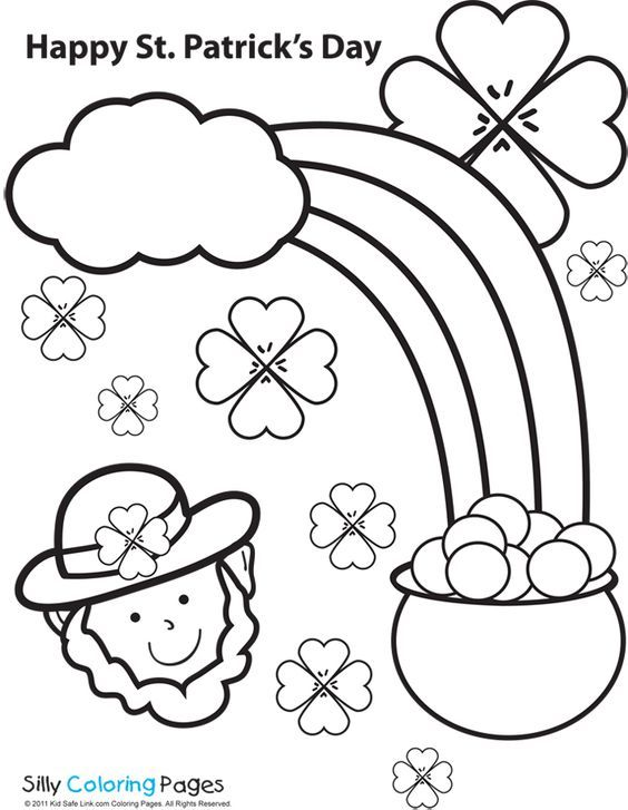 Kid Safe Link St Patrick S Day Coloring Page