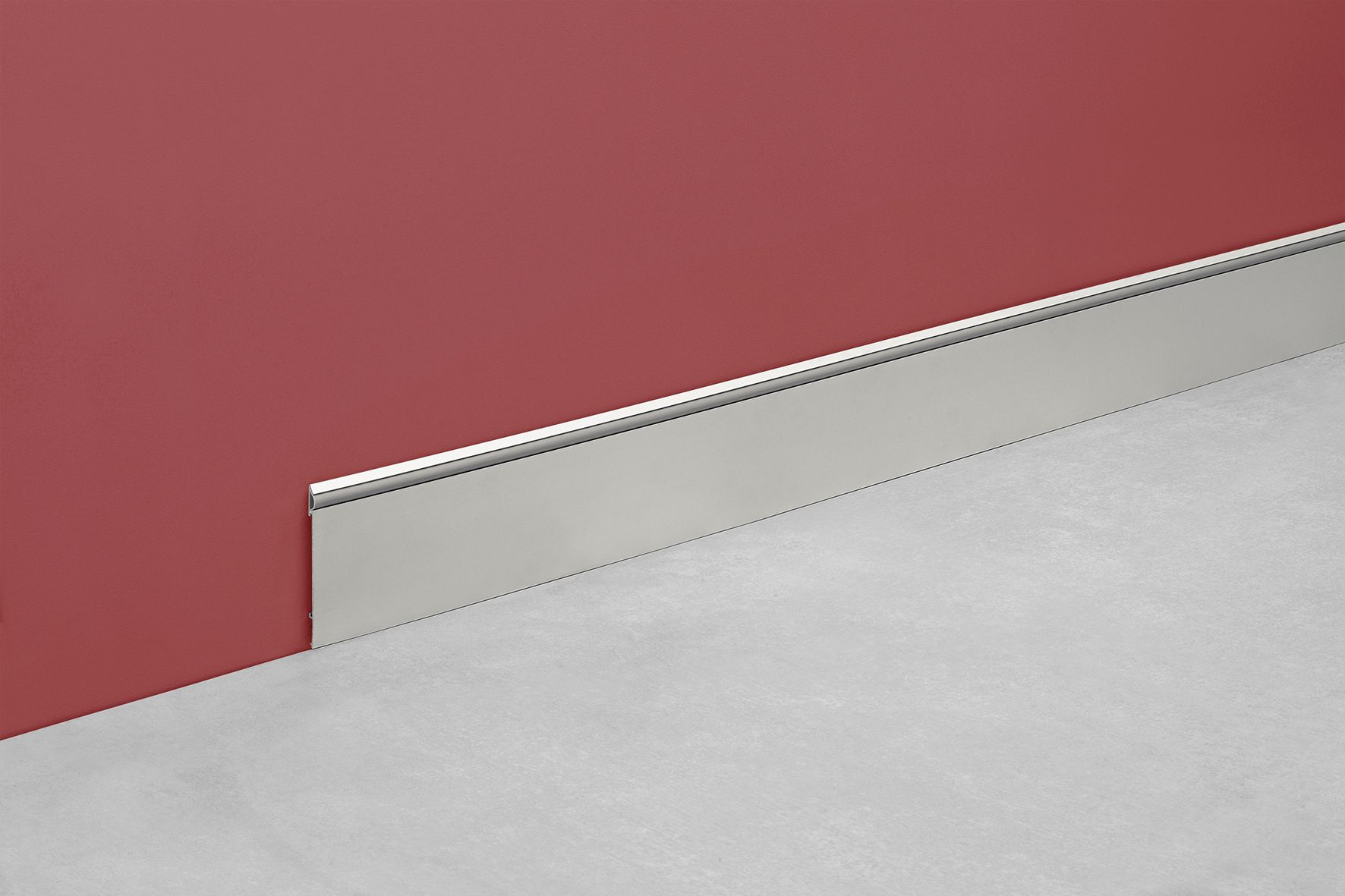 Z calo deco delgado y liviano material aluminio anodizado altura 100mm color gris - Zocalos de aluminio para cocinas ...