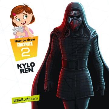Kylo Ren Fortnite Drawings Super Easy Drawings