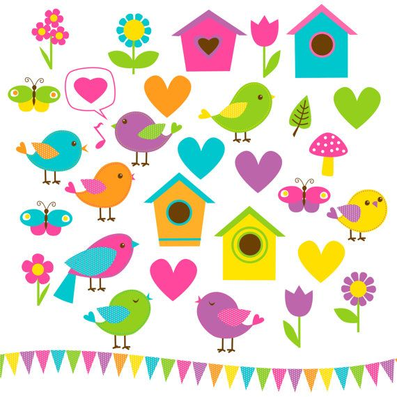 Birds Clip Art 33 Candyland Collection by WhatIsScrapbooking ...