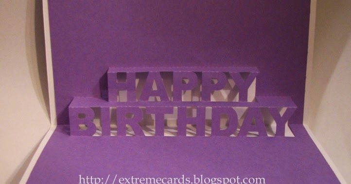 How To Make A Birthday Pop Up Card Of The Words Happy Birthday
