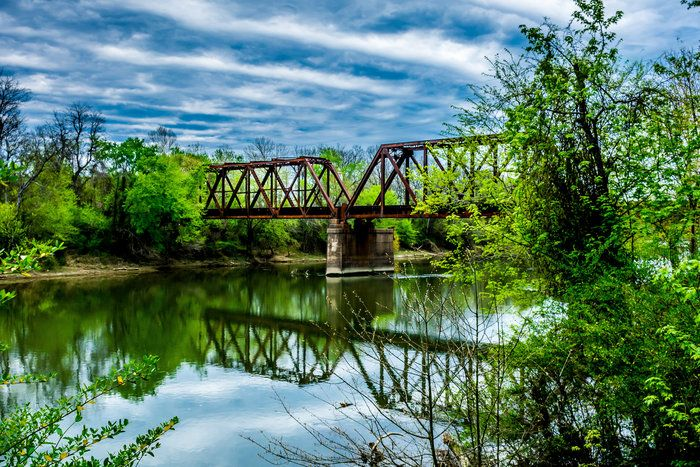 Across the Small Divide by Lola Hall on Capture Arkansas // A railroad bridge in Arkadelphia provided a great photo opportunity.