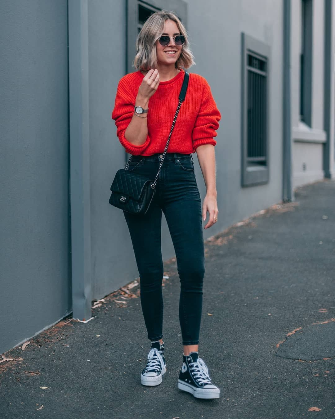How to wear converse with skinny jeans!