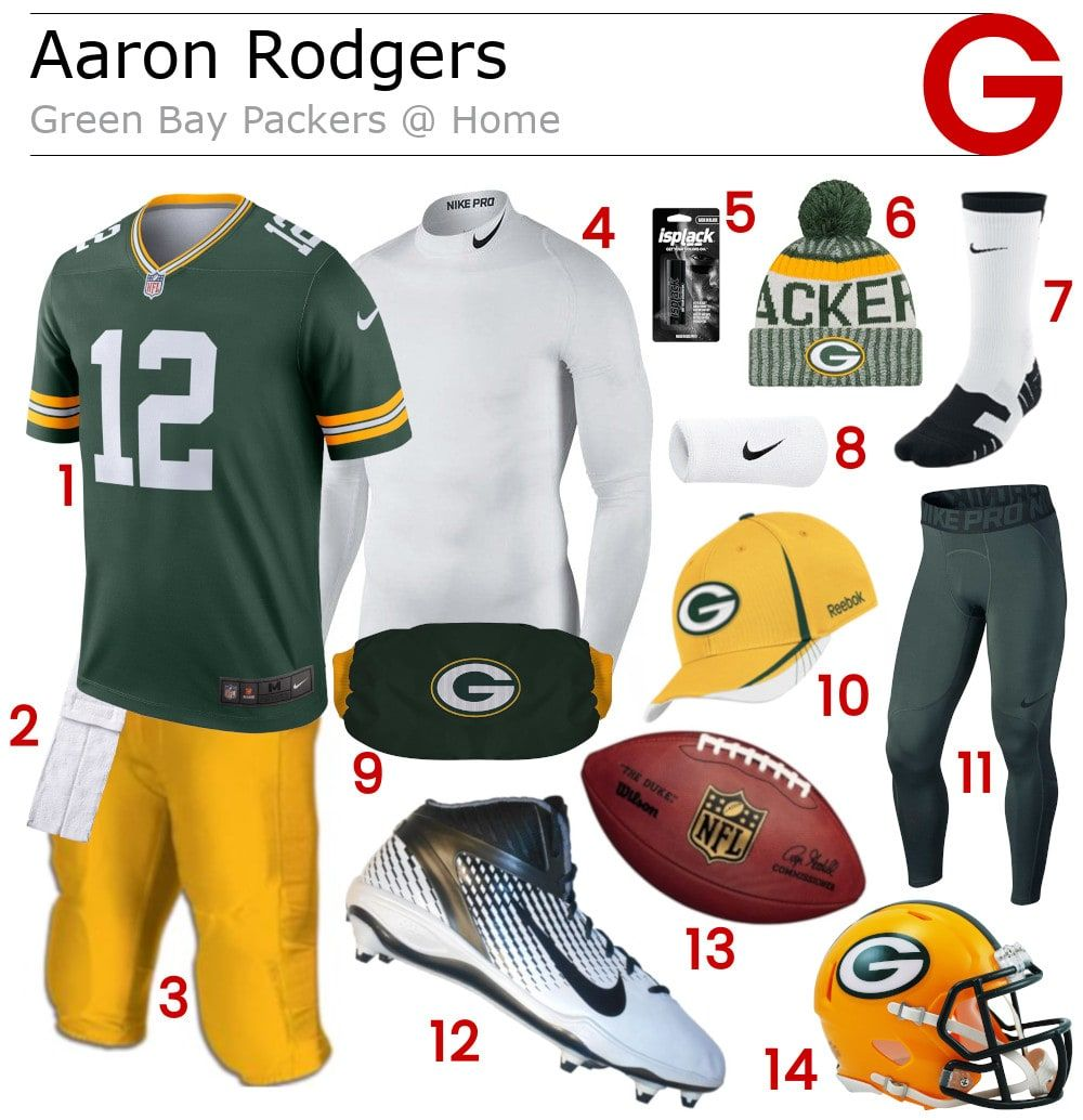 Aaron Rodgers Green Bay Packers Home Game Gear Football Pants Aaron Rodgers Nfl Gear