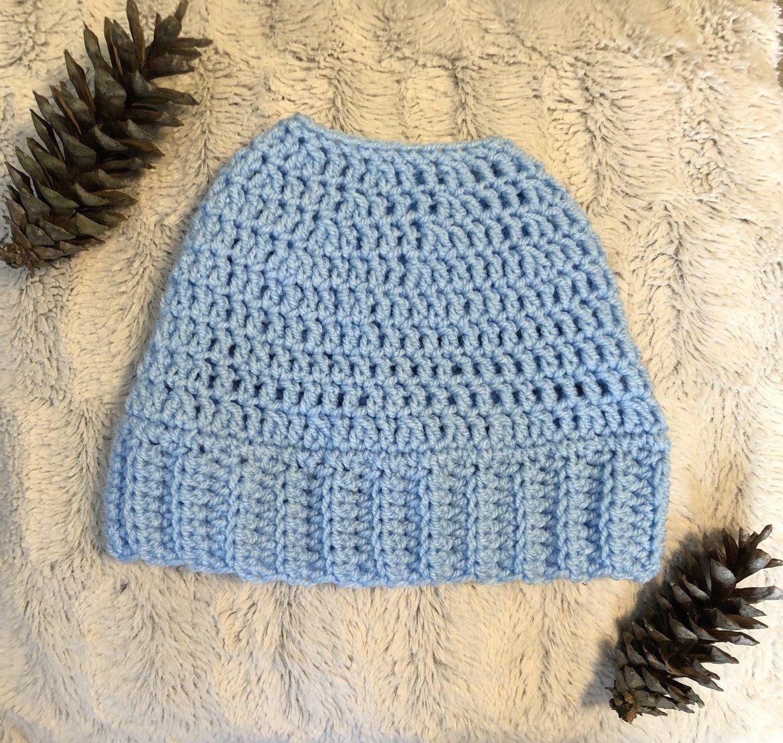 Messy Bun Hat, Messy Bun Beanie, Messy Bun Beanie Hat, Mom Bun Hat, Messy Mom Bun Hat, Ponytail Hat, Crochet Messy Bun Hat, Crochet Hat #messybunhat