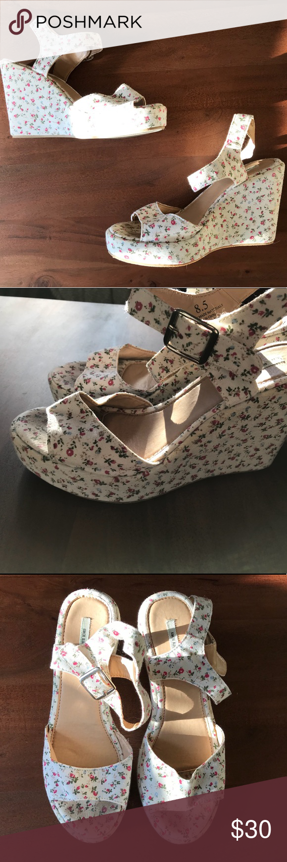23395f6b8ce Urban Outfitters Flower Wedge Heels 8.5 Good condition Urban Outfitters  Shoes Wedges