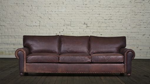 Lexington Sofa 103 Leather Berkshire Bourbon Alt Nail Pattern
