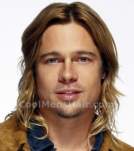 Photo Of Brad Pitt Long Hair Style Brad Pitt Hair Brad Pitt Long Hair Brad Pitt