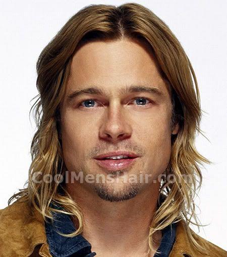 Photo Of Brad Pitt Long Hair Style Brad Pitt Hair Brad Pitt Long Hair Brad Pitt