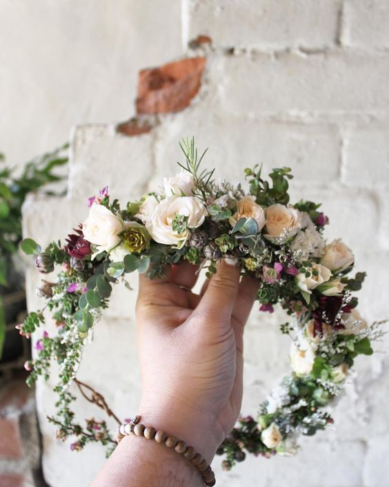 how to make a boho flower crown