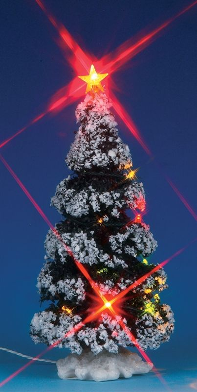 lemax village collections lighted christmas tree 3v