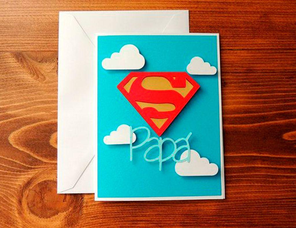 Как сделать открытку для папы смотреть