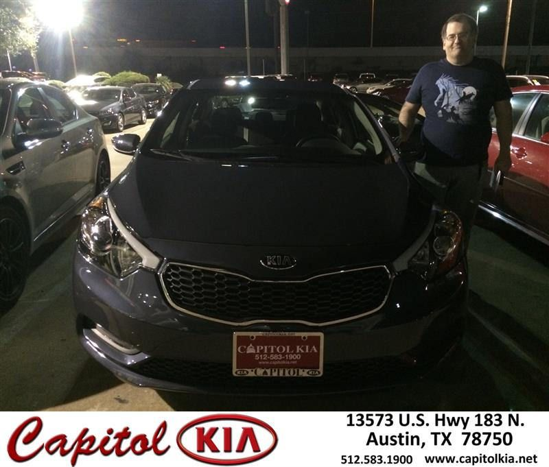 https://flic.kr/p/Awbncv | Congratulations Jason on your #Kia #Forte from Christian Lundell at Capitol Kia! | deliverymaxx.com/DealerReviews.aspx?DealerCode=RXQC