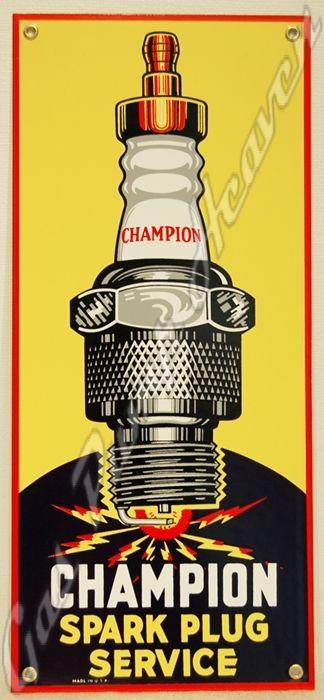 Champion Spark Plug Service Vintage Pinterest Spark Plug