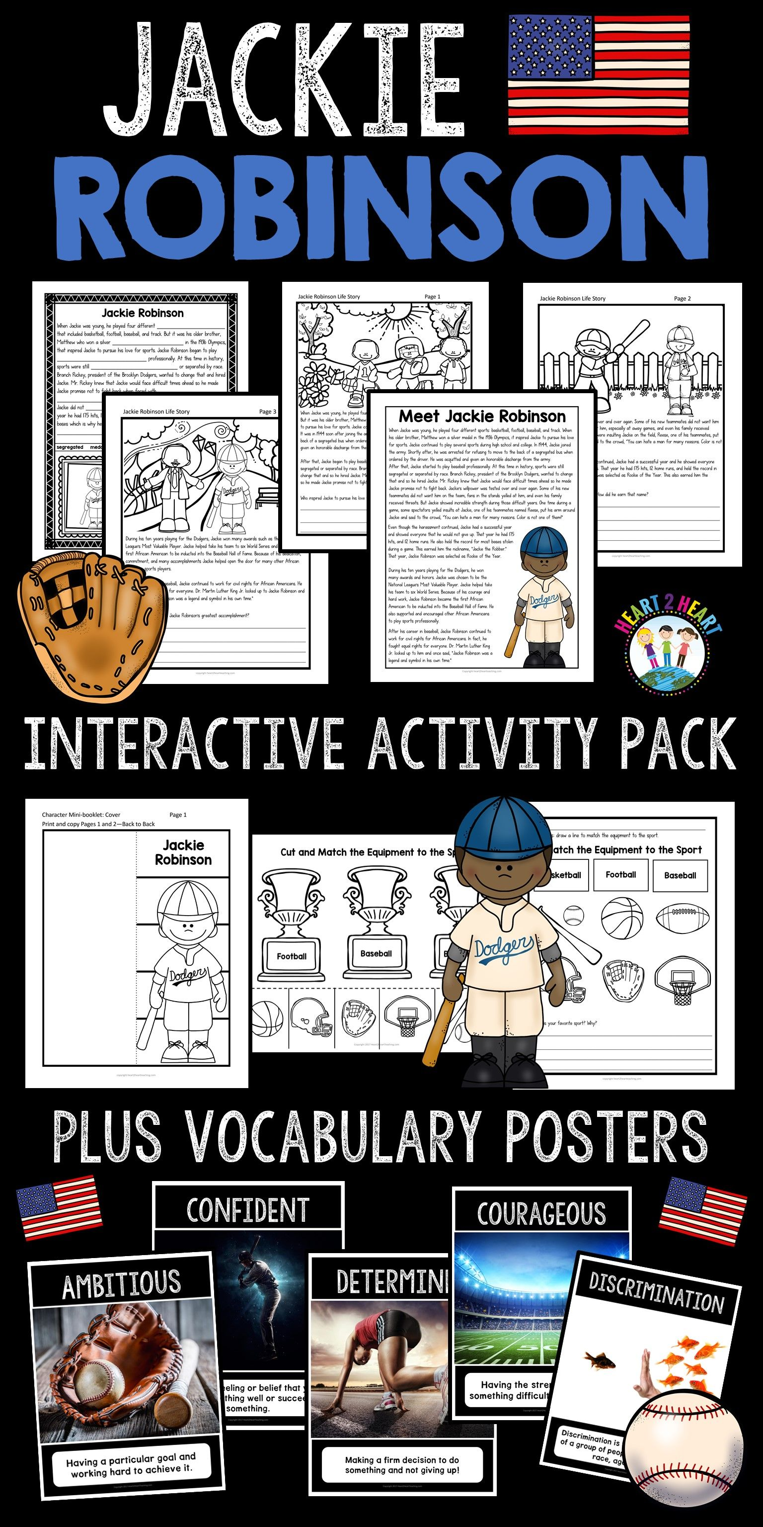 Black History Month Activities The Life Story Of Jackie Robinson Activity Pack