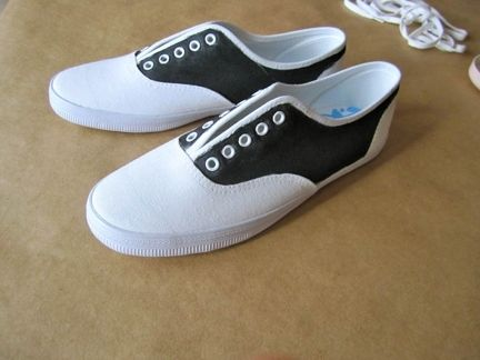 fe04d0aef16f DIY Saddle Oxfords  what you ll need  a pair of white canvas tennis shoes.  Description from pinterest.com. I searched for this on bing.com images