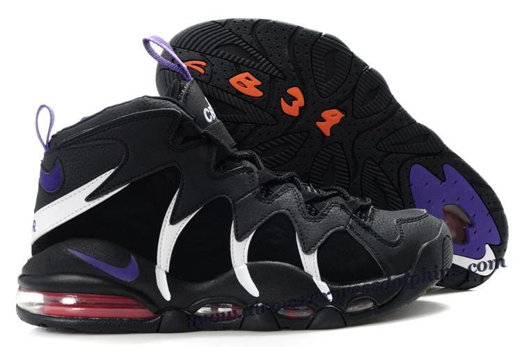 new concept 6ac58 9fad6 Nike Air Max CB 34 Charles Barkley Shoes Black White Purple