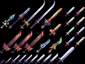 Pixel Art Swords Pixel Art Characters Pixel Art Tutorial Pixel Art Design