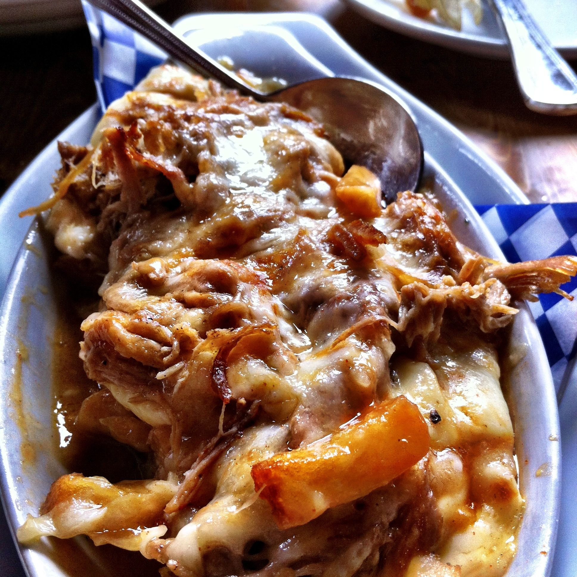Pulled Pork Poutine From The Flying Pig, Vancouver, BC