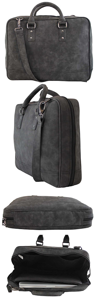 Mohawk Scarla GreyHave a look at this laptop bag from Mohawk that will allow you to stay ahead of the fashion pack. This laptop bag features a trendy design that will catch your attention for sure. Made from the finest quality of leatherette, this spacious laptop bag is high on durability.