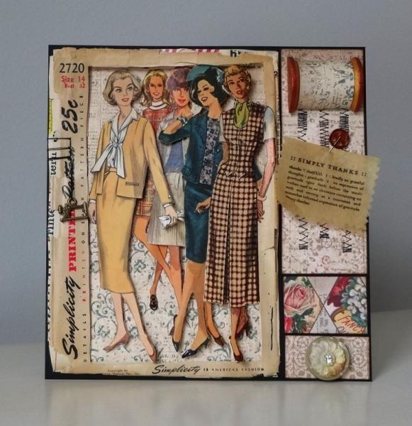 Vintage Dress Pattern Card By Amaranthine She Explains In Detail