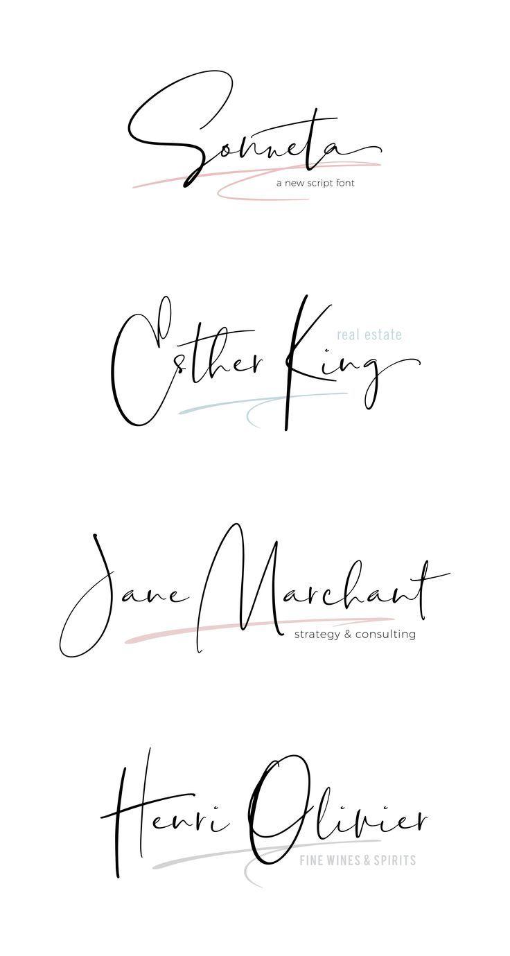 Hand drawn script font. Modern signature style script font.
