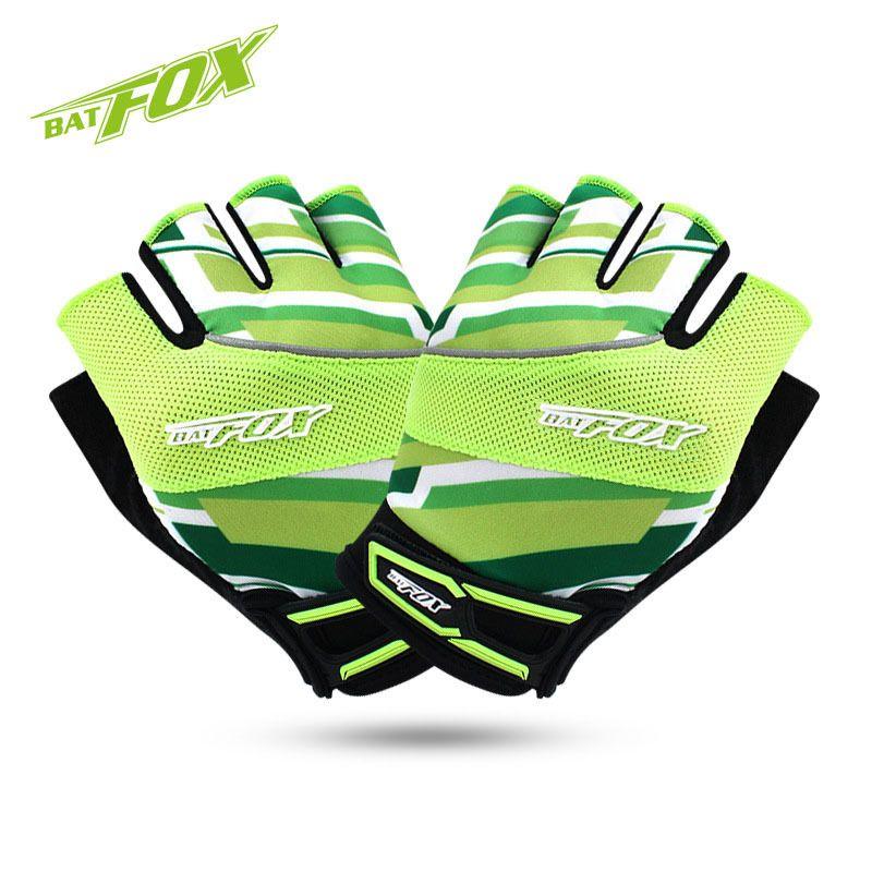 BATFOX 2016 Unisex Summer Cycling Gloves Half Finger Nylon Lycra Absorbent Sport Bicycle Gloves MTB Bike Gloves For Fitness
