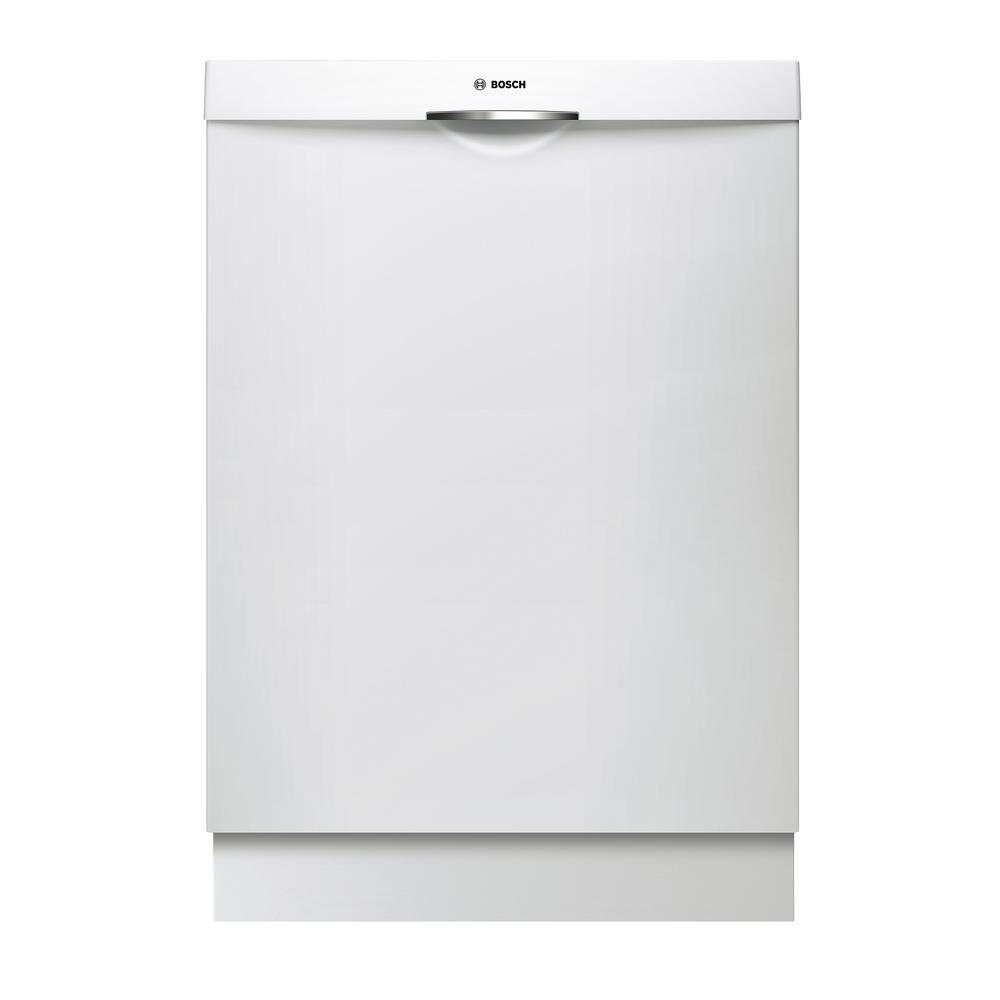 Bosch 300 Series Top Control Tall Tub Scoop Handle Dishwasher In White With Stainless Steel Tub And 3rd Rack 44dba Shsm Steel Tub Tub Top Control Dishwasher