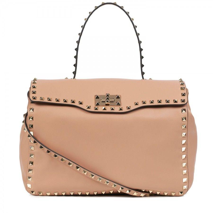 Valentino - Rock Stud leather shoulder bag