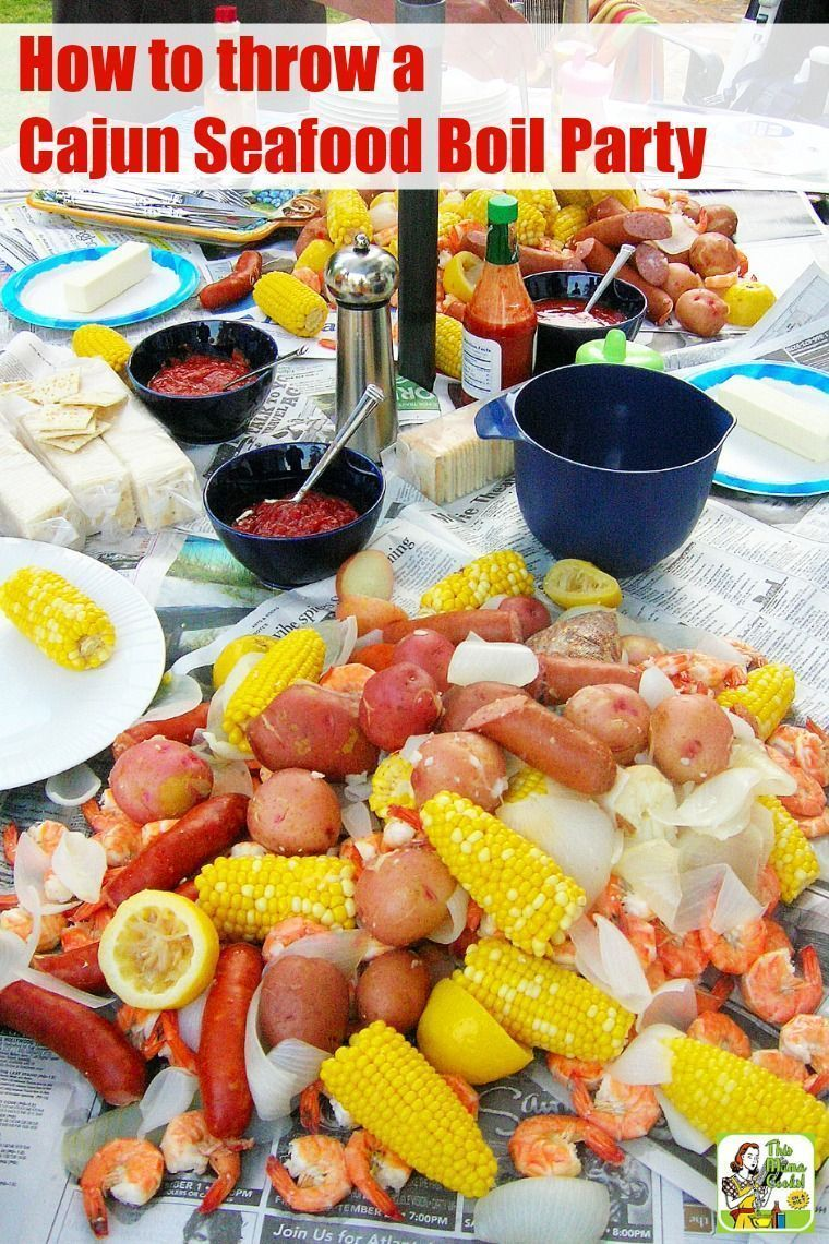 Cajun Seafood Boil Party #seafoodboil Erfahren Sie, wie man einen Cajun Seafood Boil ... #seafoodboil