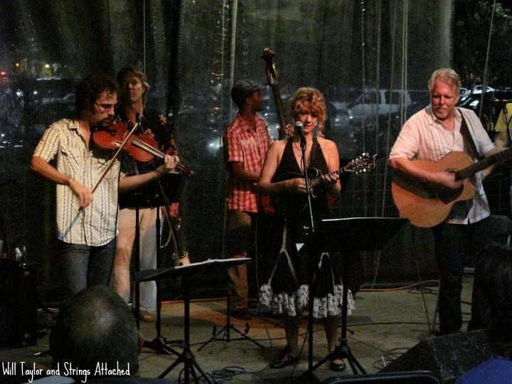 Will Taylor and Strings Attached with Karen Mal and Steve Carter at Central Market 2011 stringsattached.org austin music