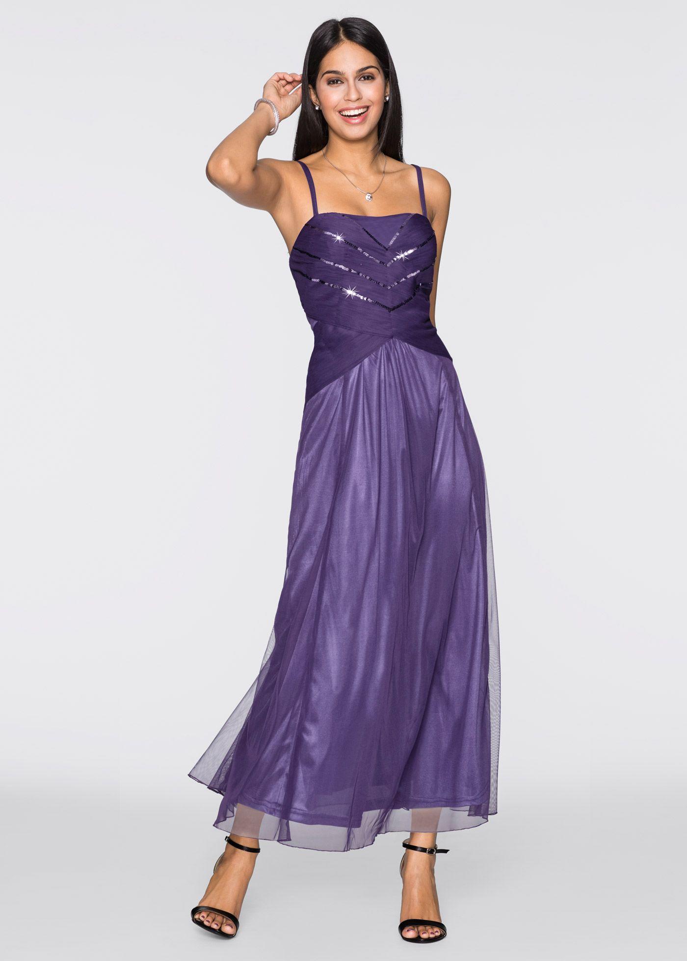 Abendkleid lila - BODYFLIRT jetzt im Online Shop von bonprix.de ab
