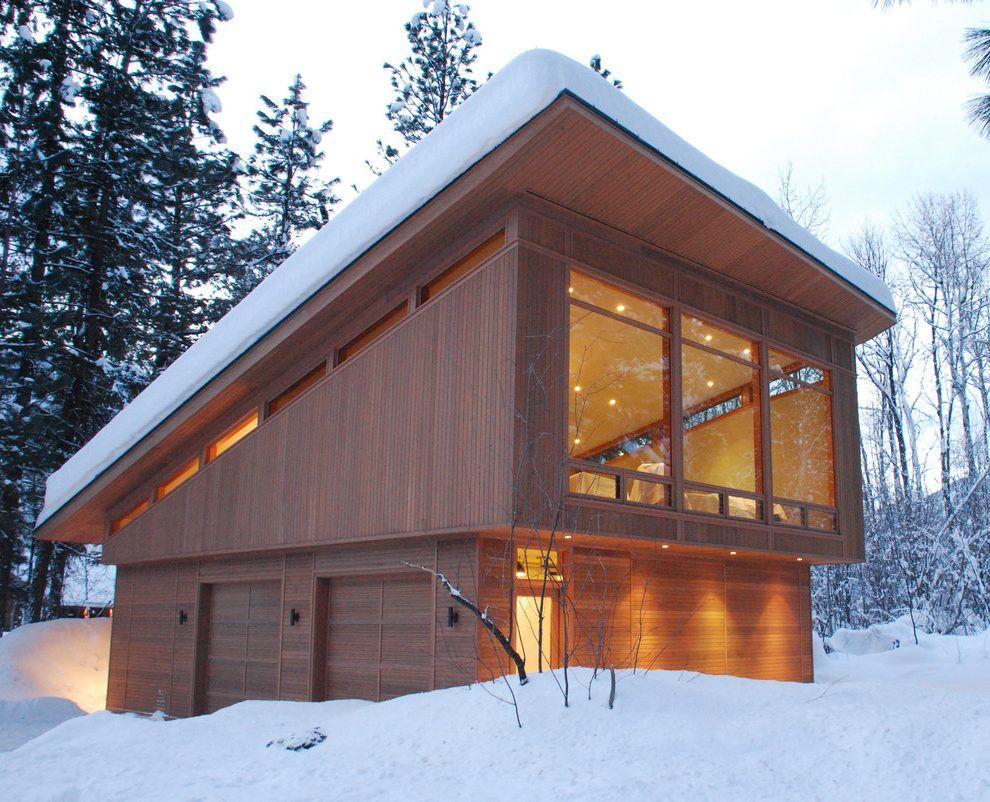 Best Cedar Garage Modern With Clerestory Windows Abstract 640 x 480