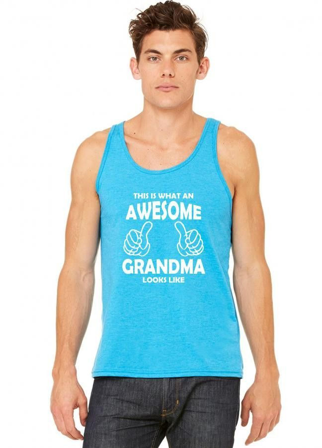 this is what an awesome grandma looks like white tank top