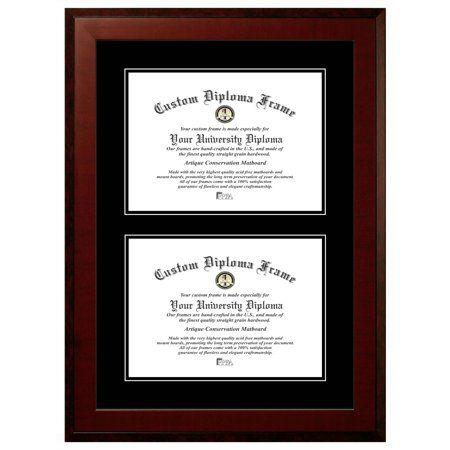 11x14 Double Degree Honors Mahogany Double Black Mats Certificate Frame Certificate Frames Frame Diploma Frame