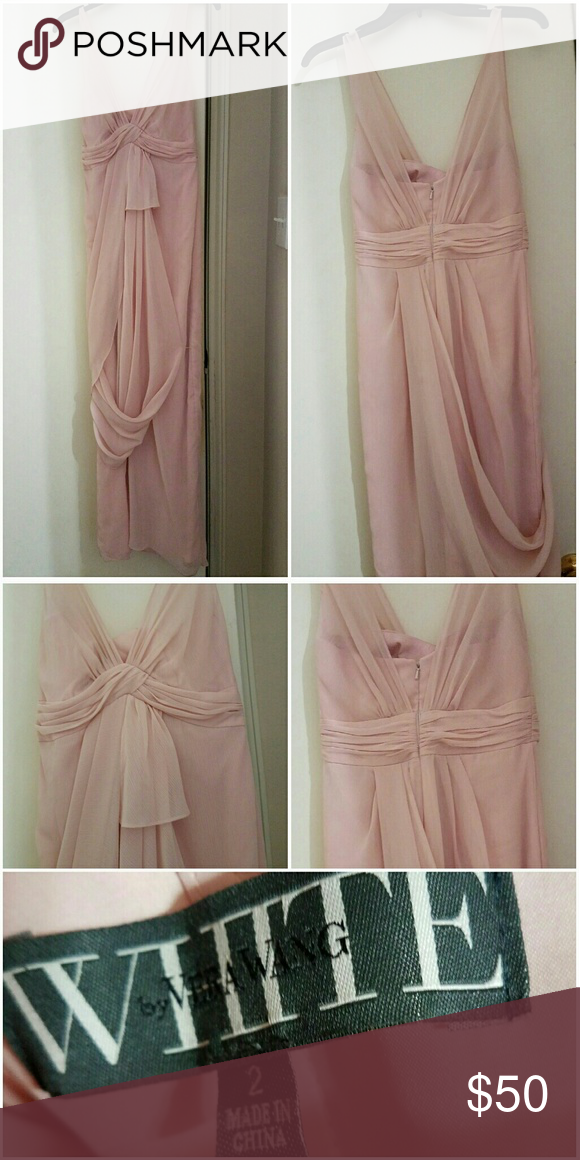Vera Wang Blush Pink Gown Like NEW! Worn once for a wedding. Vera Wang Dresses Prom