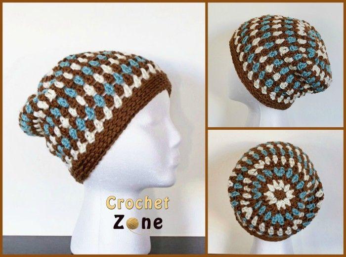 Free Crochet Pattern: Diamonds & Gems Slouchy | CROCHET | Pinterest ...