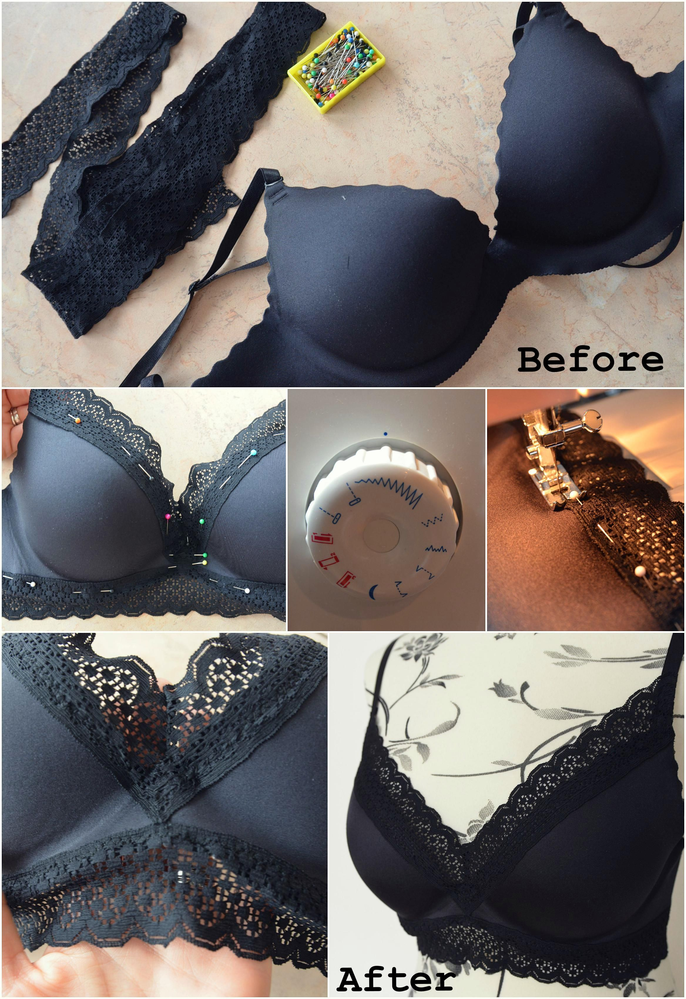 0de85a19f6 DIY bralette lace DIY fashion  DIY ideas  julitastefashion lace bra ...