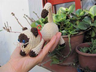 Amigurumis Gato Siames : Amigurumis amorosos gatos crochet gato