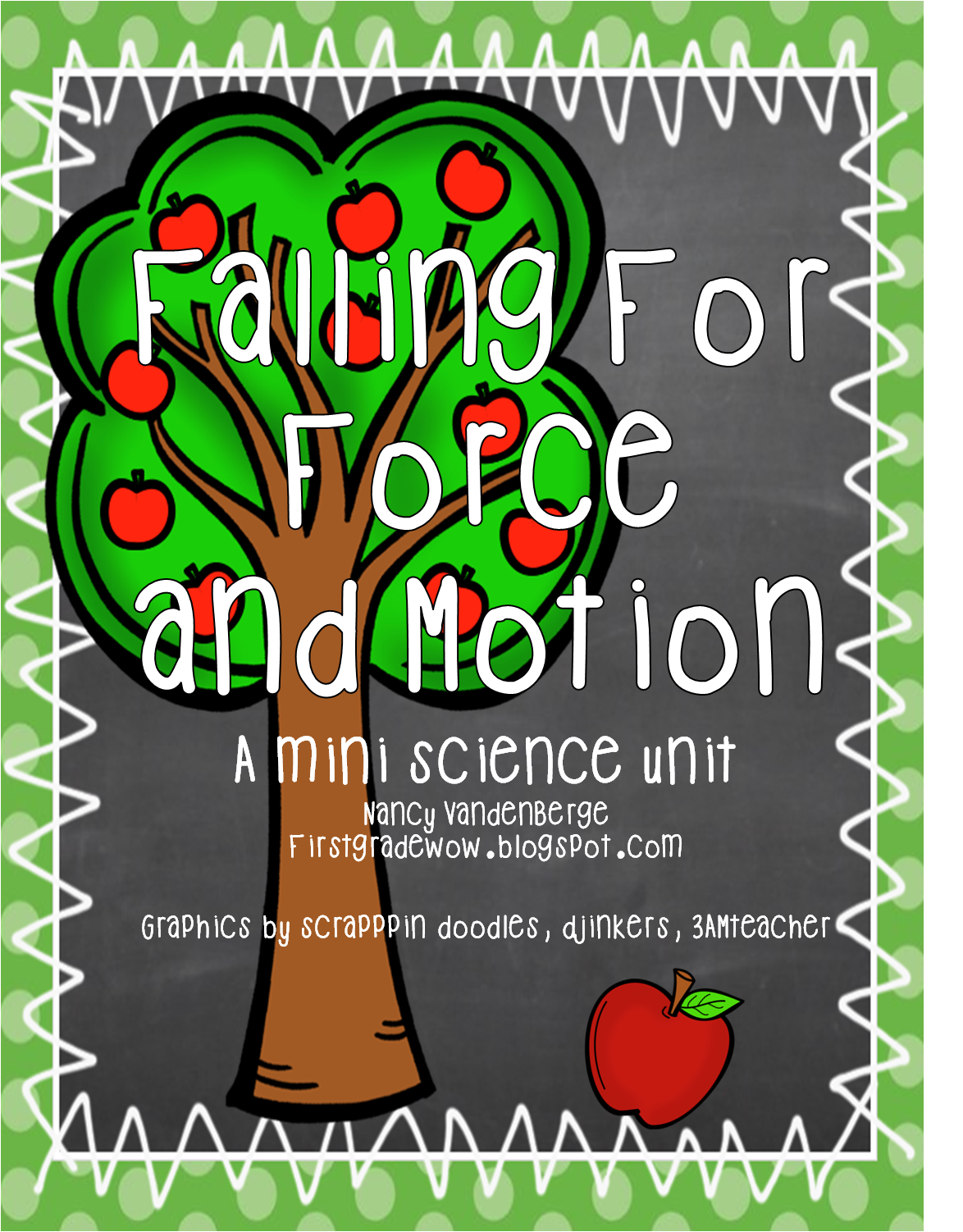 Falling For Force And Motion Apple Style First Grade Wow