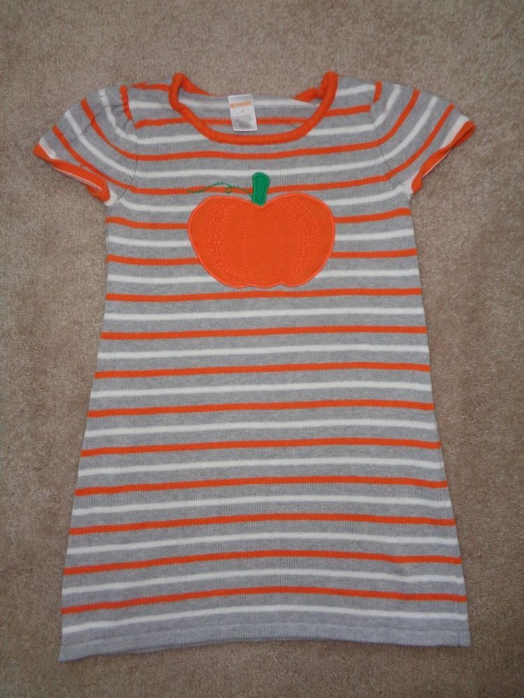 3fc2e00d3de GIRLS GYMBOREE Orange and Gray Striped PUMPKIN Sweater Dress Size 8   fashion  clothing  shoes  accessories  kidsclothingshoesaccs   girlsclothingsizes4up ...